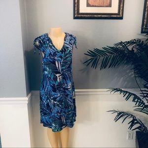 Spenser Jeremy Sz M-L Women's Floral V- Neck Dress